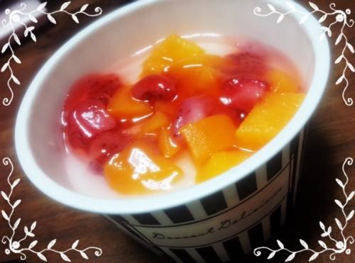 プレシア フルーツ杏仁豆腐