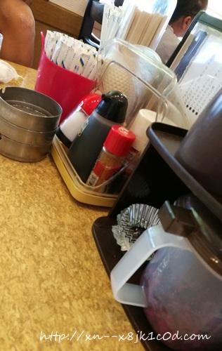 カフェ待夢のテーブルの上