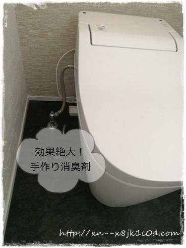 トイレに手作りした消臭剤を置いたよ!