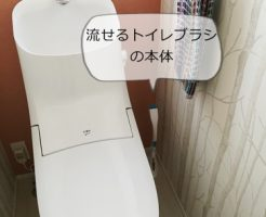 流せるトイレブラシ