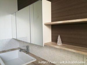 洗面所に置いたダイソーのツリー