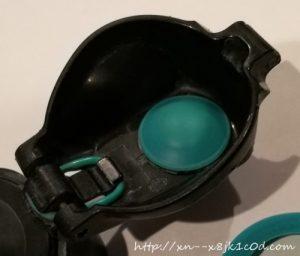 茶渋汚れが落ちた水筒の蓋