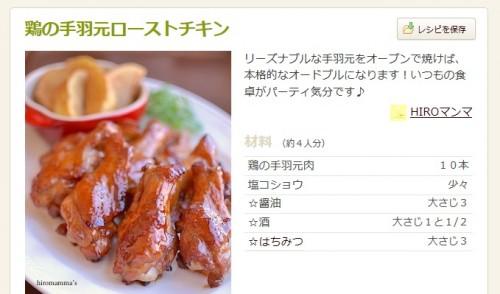 ローストチキンのレシピ