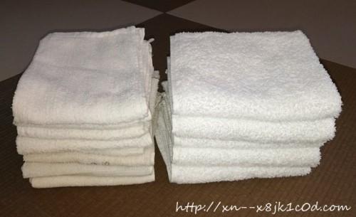 グランドールと粗品タオルを比較