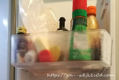 冷蔵庫の中の調味料