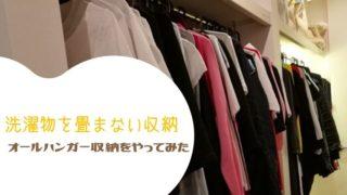洗濯物を畳まない収納(オールハンガー収納)