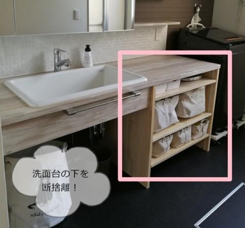 洗面所の断捨離の方法