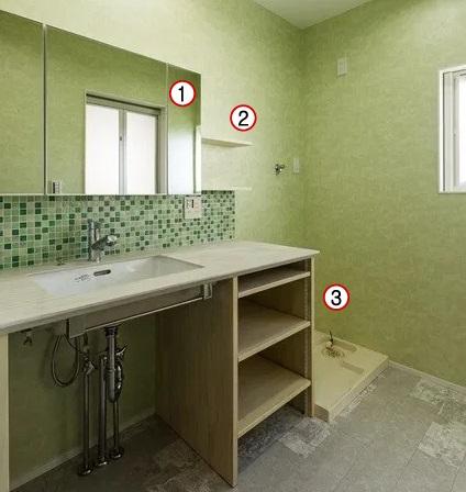 2階の洗面所収納